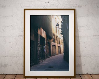 "Street Photography, ""Be The Light"" Print Wall Art Decor Gift Apartment Art Travel Barcelona"
