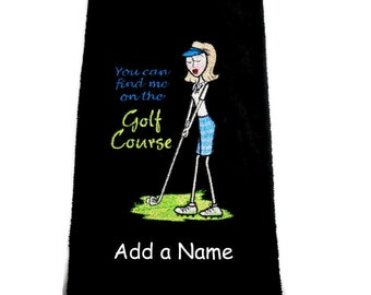 golf towel, personalized golf, embroidered towel, funny golf, gift for her, golf towel, funny golf towel, monogrammed golf, bridal party