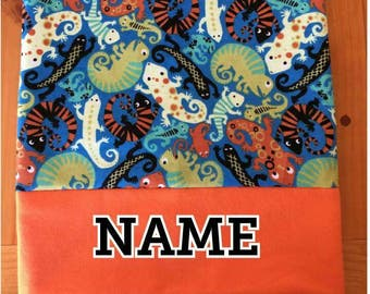 Personalized Embroidered Standard Size Children's Flannel Pillowcase