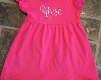 Blanks boutique short sleeve dress with name monogrammed