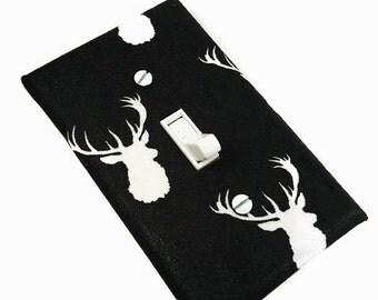 Deer Head Nursery | Rustic Nursery | Black and White Nursery | Suiteplat