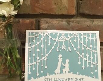 Papercut Wedding / Anniversary / Engagement Card