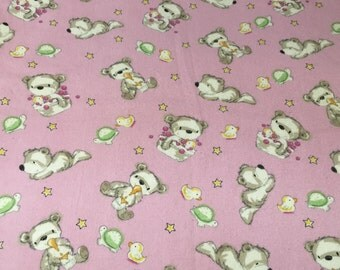 Teddy Time Flannel Baby/Toddler Blanket