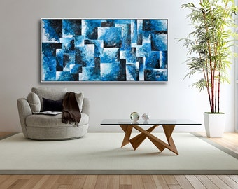 Original Large Abstract painting , Palette Knife on Canvas, Hand-painted Contemporary Art by Petar Modiz ,free shipping