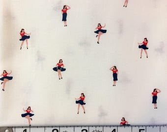 Hello Sailor by Dear Stella 1930's Reproduction Fabric