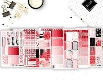 Love   Full Weekly Sticker Kit - 241 Planner Stickers for Erin Condren Life Planner Vertical, Plum Paper, Filofax etc.