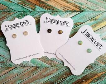 Gold Leaf Stud Earrings