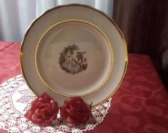 Courting Couple plate