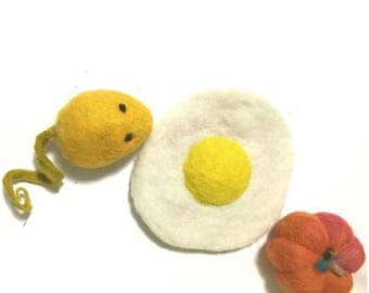 Novelty felt decor, Needle Felted Ornaments.