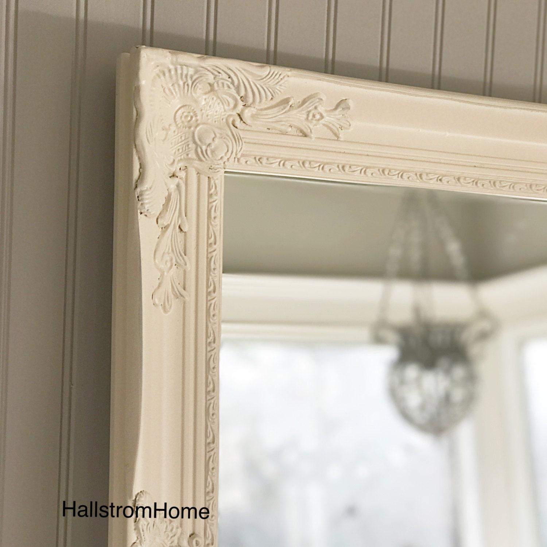 ivory shabby chic mirror large mirror bathroom mirror vanity. Black Bedroom Furniture Sets. Home Design Ideas