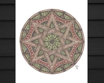 Celtic Knot, Mandala Art, Signed Art, Art Print