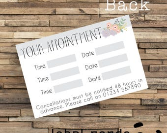 Printed Appointment Cards, Custom Printed Appointment Cards, Budget Appointment Cards, Custom Appointment Card, Custom Beauty Card