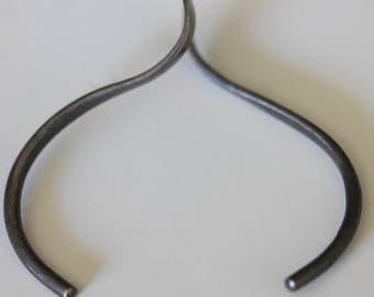 925 Sterling silver vintage modernist cuff bracelet