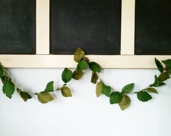 Greenery Garland | Felt Garland - Greenery Leaf Garland - Green Leaf Garland - Greenery Wall Decor - Greenery Nursery Decor - Leaf Garland
