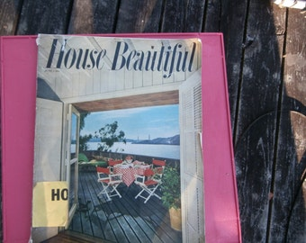 House Beautiful Magazine ,1950's, furniture,kitchens,fashion of the time
