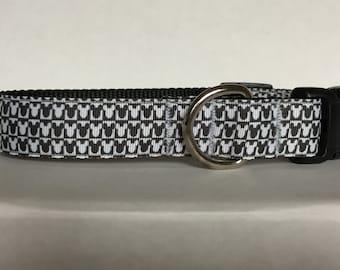Checkerboard Mickey 1 inch Collar