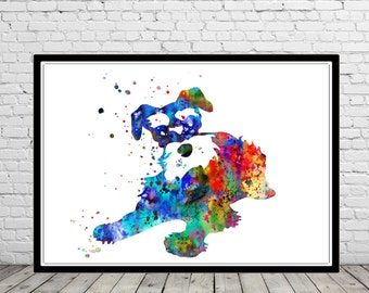 Miniature schnauzer, watercolor painting, schnauzer, animal painting,animal art, dog, Kids Room Decor, Poster, wall art, print(2476b)