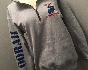 Marine Girlfriend 1/4 zip sweatshirt quarter zip