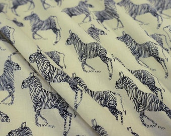 "Dressmaking Fabric Cotton Fabric For Sewing Designer Pure Cotton Fabric 41"" Wide Zebra Print Beige Fabrics By The Yard India Crafti ZBC6321"