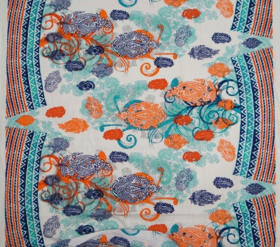 Dressmaking Fabric Paisley Print White Fabric Home Decor Cotton Fabric Sewing Craft 47