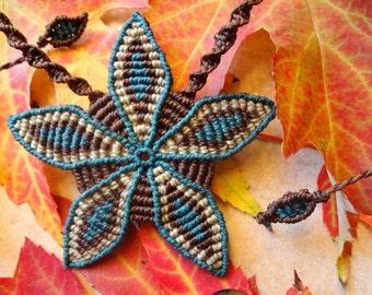 Flower spiral to macrame