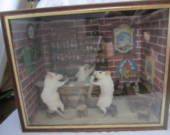 taxidermy mouse bar cabinet of curiosity has book taxidermy rat oditties