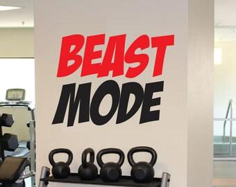 Charming Beast Mode Decal   Vinyl Wall Decal   Beast Mode Sticker Motivation Fitness Gym  Decor