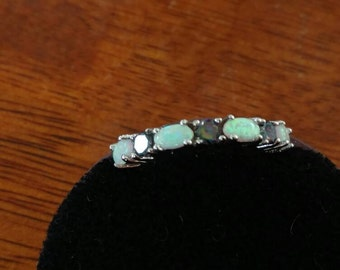 Opal and Mystic Topaz Party Ring, Size 5.5
