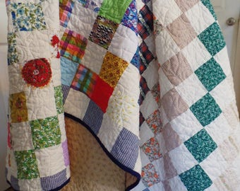 Handmade Quilt, Vintage Quilt, Traditional Quilt, Patchwork Quilt, King, Queen, Full, and Twin Size Custom Quilt, CUSTOM QUILT DEPOSIT