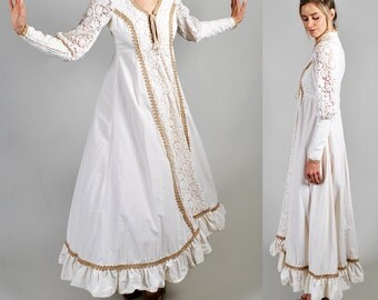 GUNNE SAX 1970's vintage victorian style maxi dress         A3