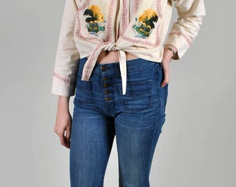 Vintage 1950's Mexican Embroidered Souvenir jacket Sukajan Eagle and Snake S5