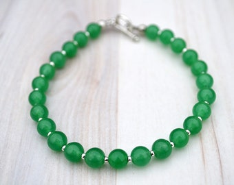Aventurine silver bracelet, Aventurine bracelet, Green aventurine bracelet, Genuine aventurine bracelet, Aventurine jewelry, Green bracelet.
