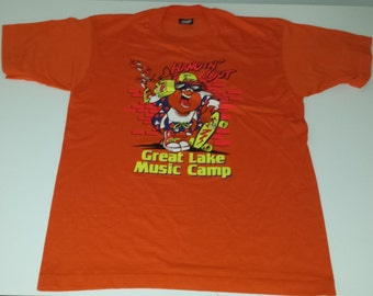 Vintage 90s Screen Stars Great Lake Music Camp Tshirt size L
