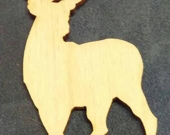 Buck deer wood cutout painting