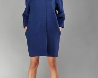 Women's coat, oversized coat, wool coat, designer coat, stylish coat, loose silhouette coat, oversized coat, cashmere coat Olena Molchanova