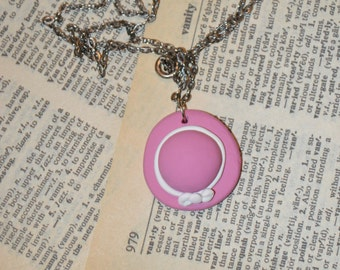 Pink Picture hat Necklace