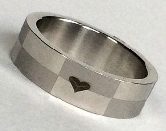 Mens Titanium Steel Ring