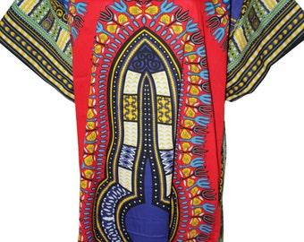 Pink Dashiki Africa Tribal Print Women Full Maxi Sun, Beach, Summer Dress