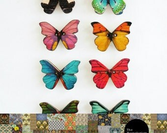 Butterfly Fridge Magnet 8pc Set