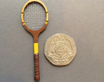 Dollshouse miniature handmade Tennis racquet