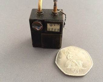 Handmade dollshouse miniature Gas Meter