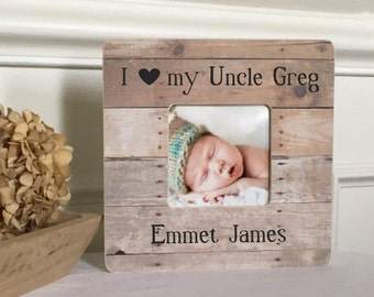 Uncle Gift  Uncle Frame  New Uncle  Niece Nephew Personalized Picture Frame