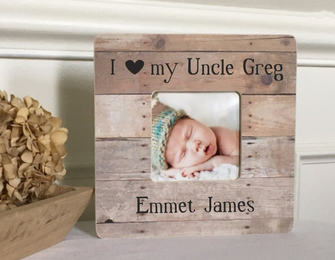 ON SALE Uncle Gift Uncle Frame New Uncle Niece Nephew