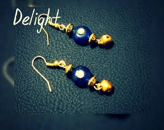 Beautiful Bead Earring in Blue Color