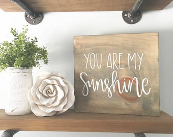 You Are My Sunshine - Wood Sign | Custom Wood Sign | Hand Painted Sign | Nursery Sign | Nursery Decor | Hand Painted | Rustic Decor