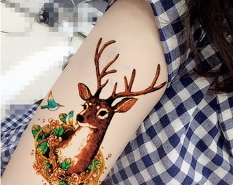 My Deer - Temporary Tattoos // Forest // Deers // Tumblr Style // Cool // Summer // Party