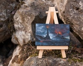 The Eye of Sauron . Lord of the Rings Mini Canvas Handmade Oil Painting Fantasy art. Home & Office decoration.