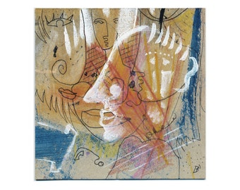 Abstract wall picture 15/15 cm (5.9/5.9 inch) art decoration / wall decoration