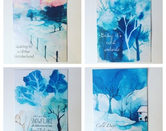 Winter Wonderland journalling cards