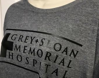 Greys Anatomy Tshirt Grey-Sloan memorial hospital